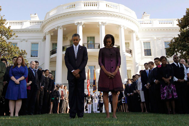 President and Mrs. Obama mark the anniversary of the September 11, 2001, attacks. (Jason Reed/Reuters)