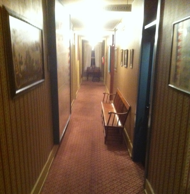 The hallways of the Golden Lamb Inn where some staff members say they won't go