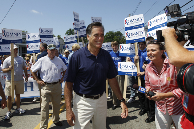 Romney in New Hampshire (Charles Dharapak/AP)