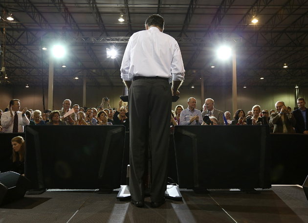 Romney in Cincinnati (Justin Sullivan/Getty Images)