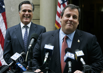 Romney and Christie in 2009 (Mel Evans/AP)