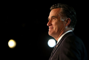 Mitt Romney at his election night rally in November (Justin Sullivan/Getty Images)