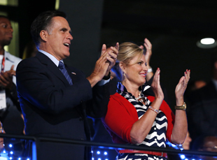Mitt and Ann Romney at the Olympic Opening Ceremony (Jae C. Hong/AP)