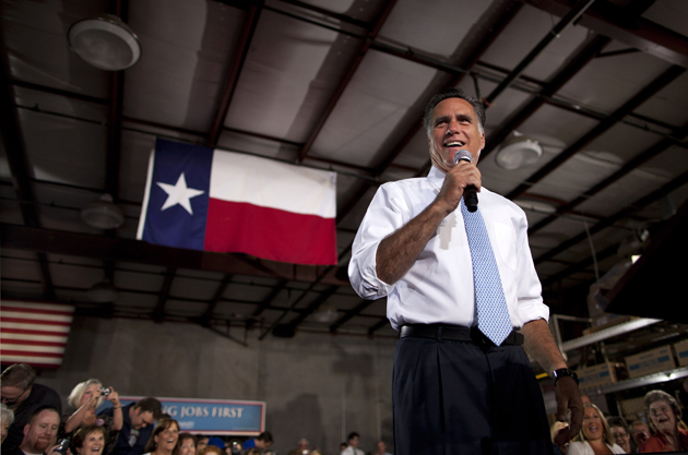 Romney in Fort Worth (Evan Vucci/AP)