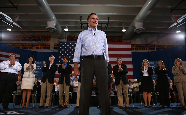Romney poses with Republican governors in Colorado (Justin Sullivan/Getty Images)