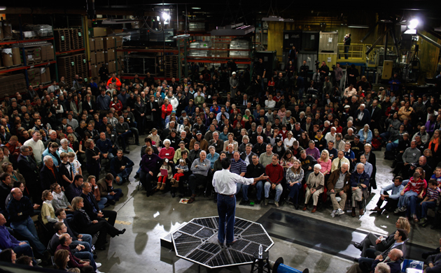 Romney in North Liberty, Iowa (Chip Somodevilla/Getty Images)