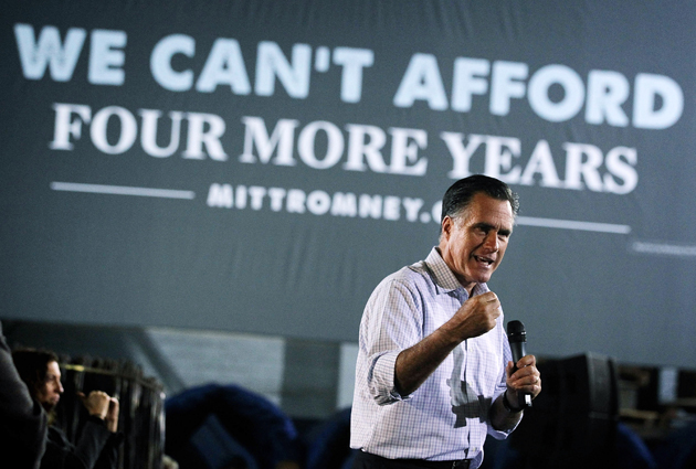 Romney campaigning in Ohio on Wednesday (Alex Wong/Getty Images)