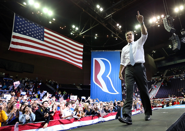 Romney in Pensacola, Fla (Justin Sullivan/Getty Images)