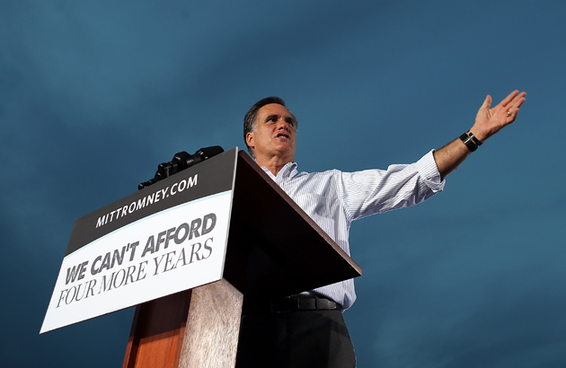Romney campaigning in Florida (Justin Sullivan/Getty)