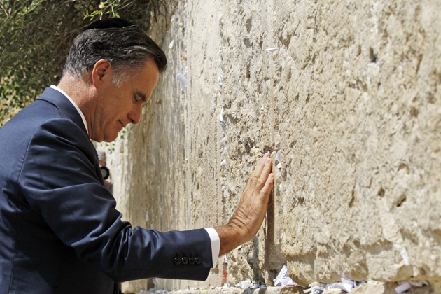 Romney at the Western Wall (Charles Dharapak/AP)