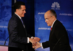 Romney and Giuliani in 2007 (Joe Raedle/Getty Images)