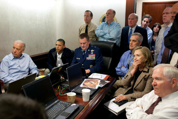 The White House Situation Room, May 1, 2001. (Pete Souza/The White House)