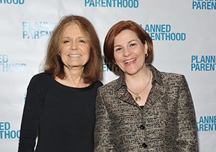 Gloria Steinem and Christine Quinn at a Planned Parenthood gala in March. (Mike Coppola/Getty Images)