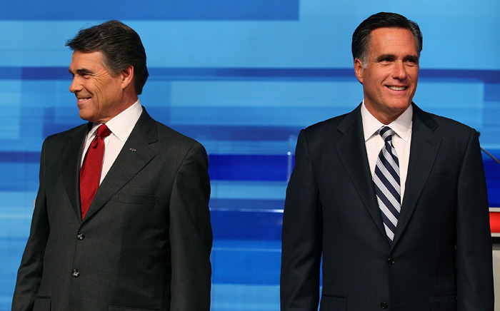 Perry and Romney (Mark Wilson/Getty Images)