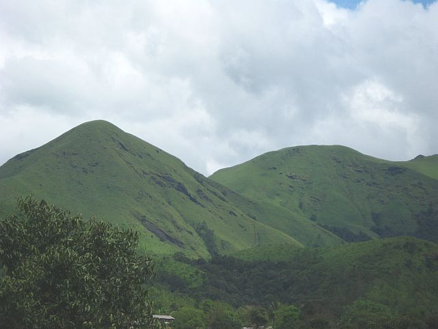 Gentle slopes of hills Chikmagalur