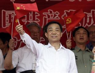 Bo Xilai waves the red flag of China