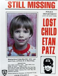 Etan Patz missing poster (AP, New York Police Department)