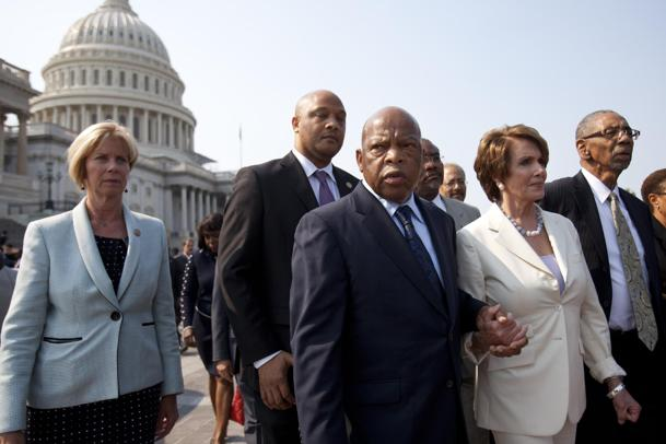 Democrats walk-out during contempt vote (Jacquelyn Martin/AP)