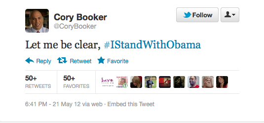 Cory Booker #IStandWithObama