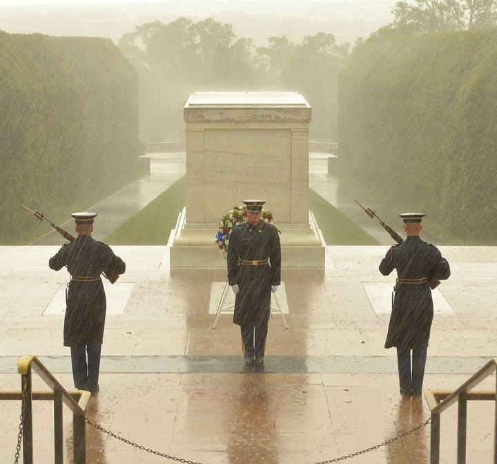 Image from September of Tomb of Unknown Soldier being falsely shared on social media as a Hurricane Sandy image