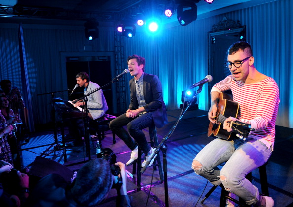 fun. perform at the SLS Hotel [photo: Bryan Bedder'Getty]