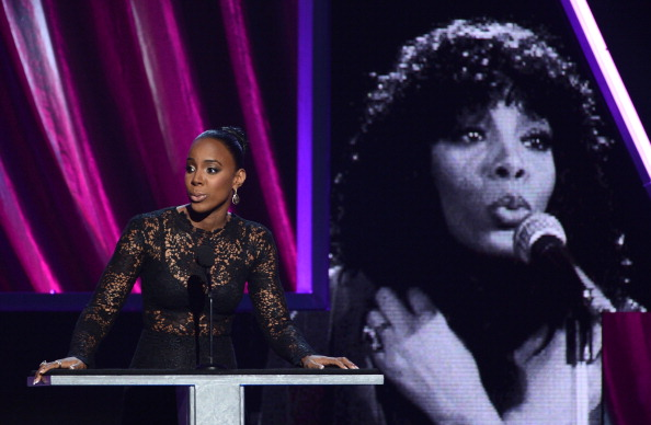 Kelly Rowland inducts Donna Summer [Kevin Winter/Getty Images]