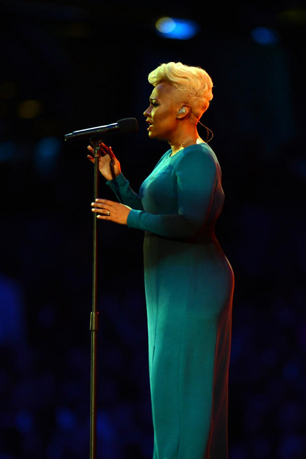 Emeli Sandé's Olympic ceremony performance did not air in the U.S. [photo: Lars Baron/Getty Images]