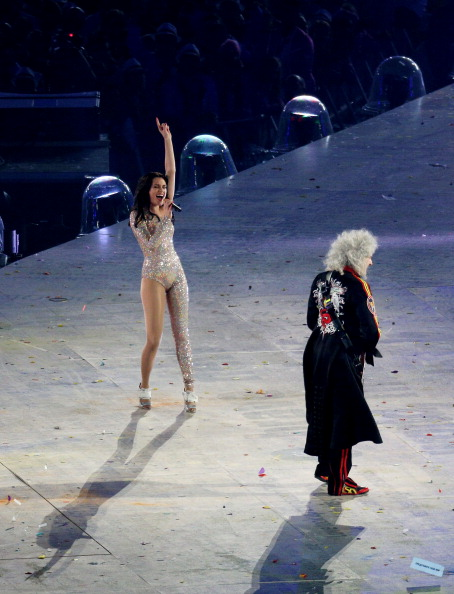 Jessie J meets Queen's Brian May (Getty Images)