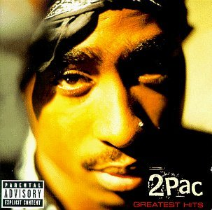 Tupac Greatest Hits album cover.
