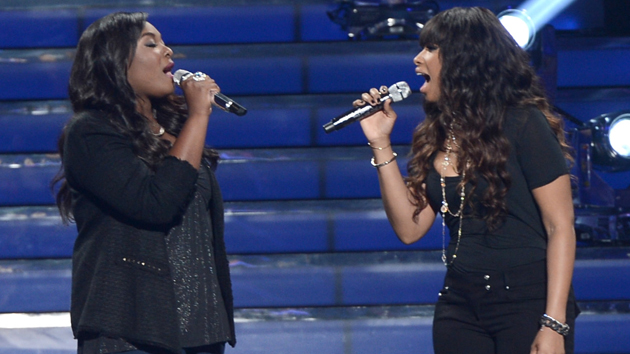 Candice Glover and Jennifer Hudson perform on American Idol. (Kevin Winter, Getty Images)