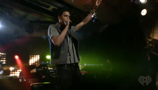 J. Cole performs for iHeart Radio.