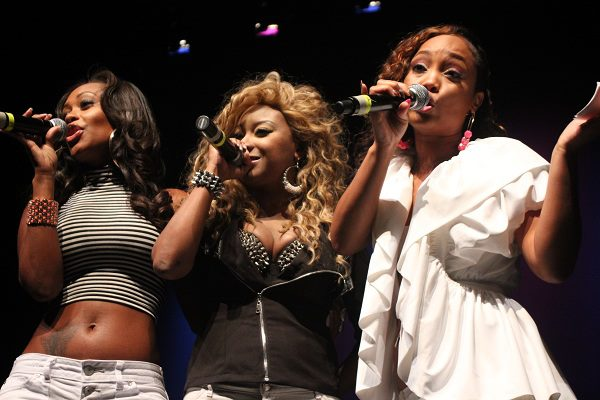 Blaque members Brandi Williams, Natina Reed and Shamari DeVoe perform at the First Annual Left Eye Music Fest in July. .