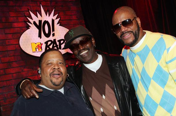 "Doctor Dre, Fab 5 Freddy and Ed Lover at ""Yo! MTV Raps"" 20th anniversary in 2008. Getty Images, Scott Ries"