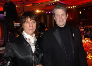 Jeff Beck & Brian Wilson [Photo: R. Diamond/WireImage for The Recording Academy]
