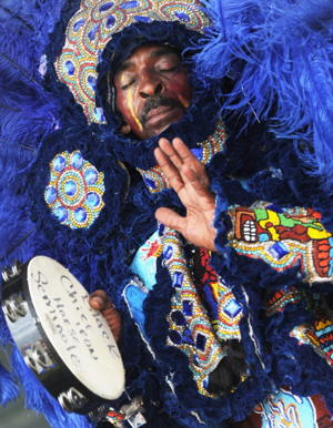Big Chief Iron Horse & the Black Seminoles Mardi Gras Indians [Photo: Rick Diamond/Getty Images]