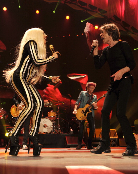 Gaga and Jagger (Kevin Mazur/Wire Image)