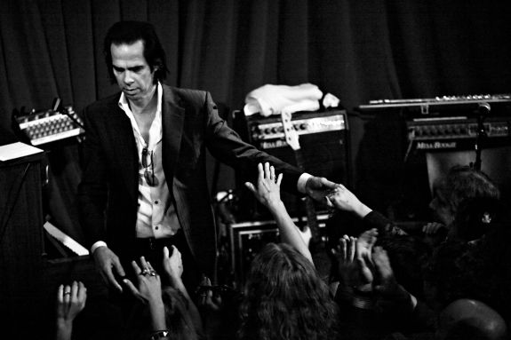 Nick Cave at Apogee's Berkeley Street Studios [photo: Larry Hirshowitz]