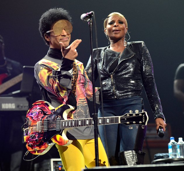 Prince and Mary J. Blige: when legends collide (Photo by Kevin Mazur:WireImage)