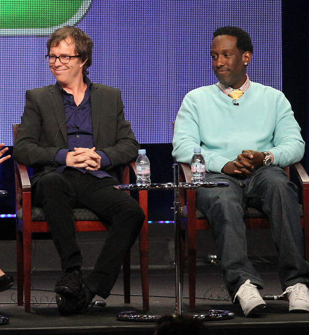 Returning judges Ben Folds and Shawn Stockman [photo: Frederick M. Brown/Getty Images]