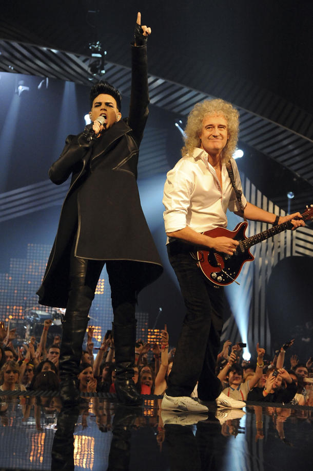 Adam Lambert & Queen at the 2011 EMAs [photo: Jeff Kravitz/FilmMagic}