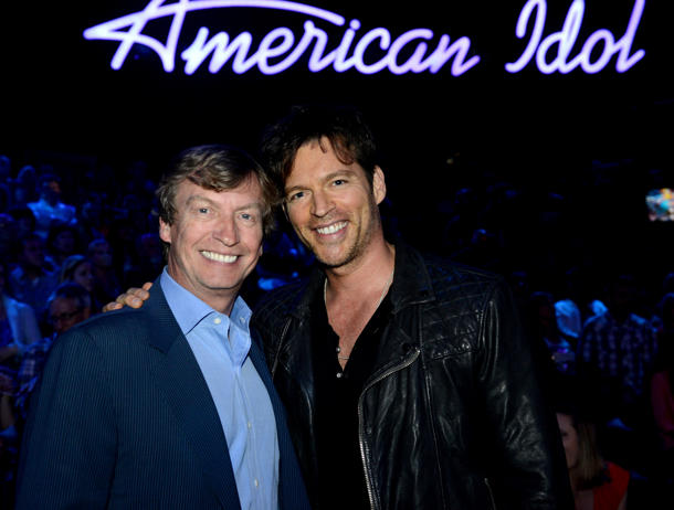 Nigel Lythgoe with Harry Connick Jr. earlier this year [photo: Fox]