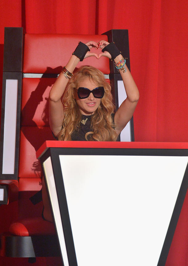 "Paulina Rubio on ""La Voz Kids"" [photo: Gustavo Caballero/Getty Images]"