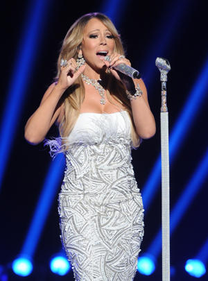 Was Mariah live, or was she Memorex? [photo: Fox]