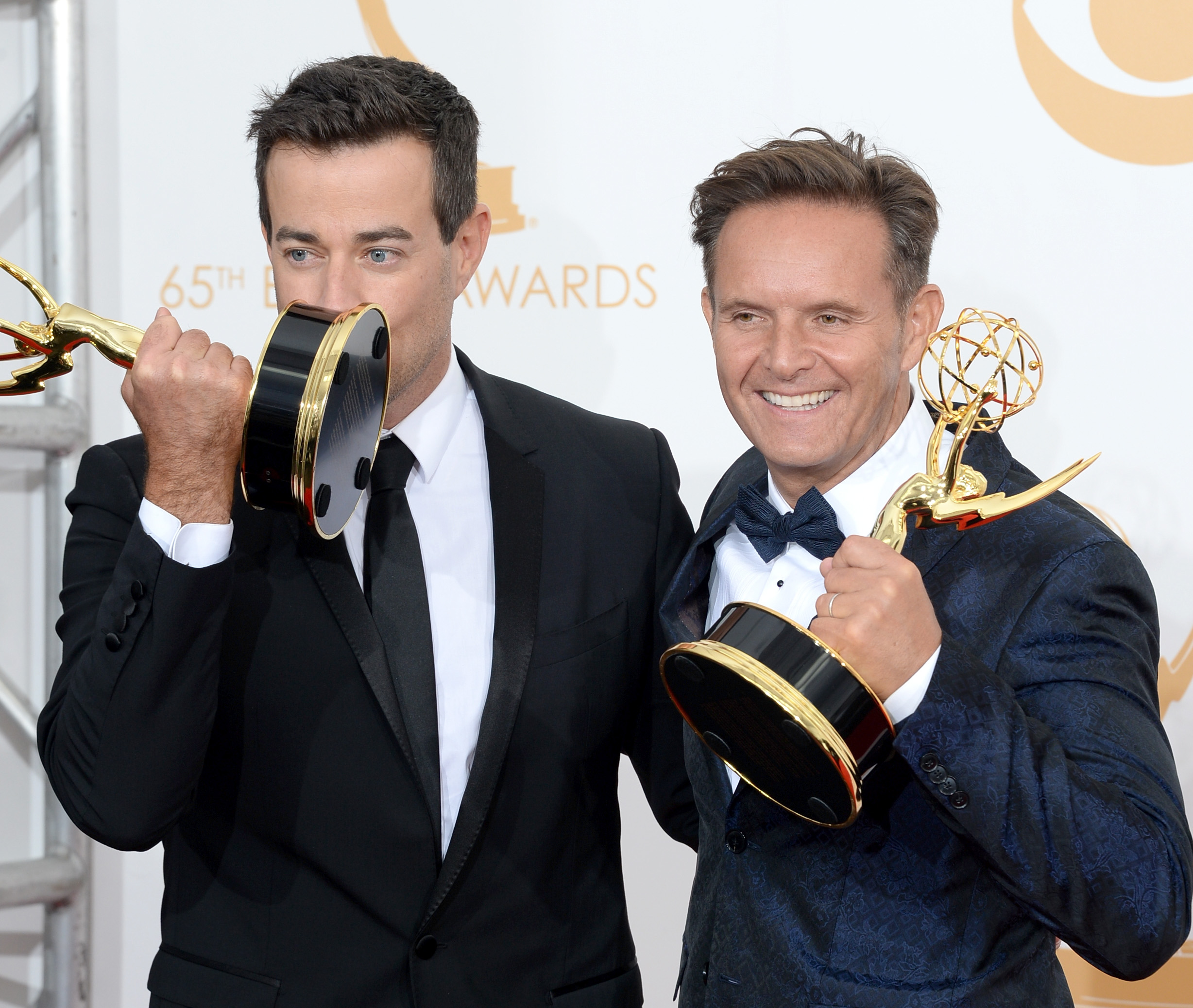 """The Voice"" host Carson Daly and producer Mark Burnett [photo: Jason Merritt/Getty Images]"