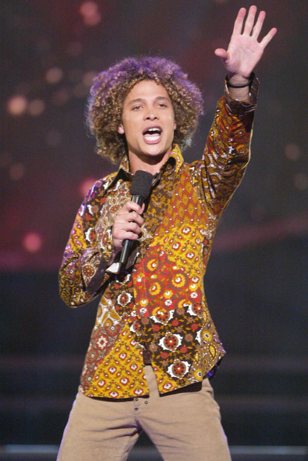 "Justin Guarini at the peak of his ""Idol"" fame [photo: Kevin Winter/Getty Images]"