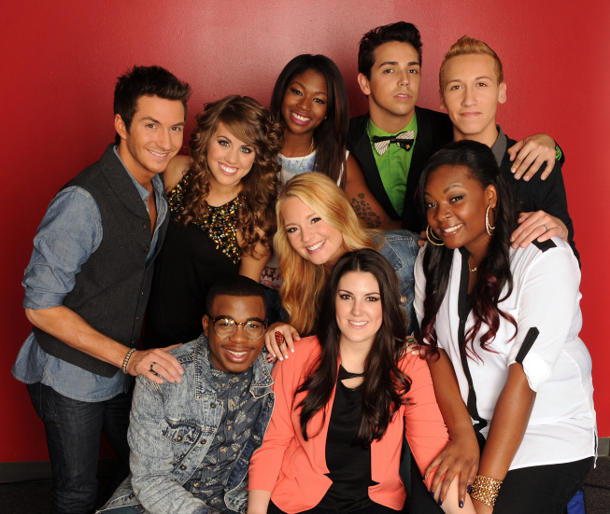 """American Idol's"" top nine"