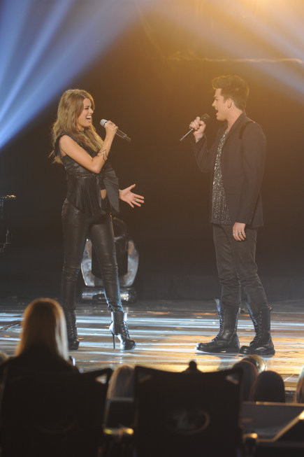 Angie Miller & Adam Lambert [photo: Fox]