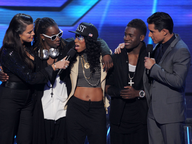 "Lyric 145 go home on ""The X Factor"" [photo: Ray Mickshaw/Fox]"