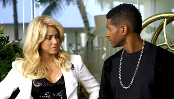 "New coaches Shakira & Usher star in their first funny ""Voice"" promo"