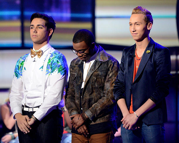 "Three boys are up for elimination on ""Idol's"" lowest-rated episode ever [photo: Fox]"
